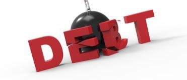 Rujnować Balowego dług Obrazy Royalty Free
