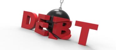 Rujnować Balowego dług Zdjęcia Royalty Free
