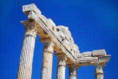 Rujnować kolumny starożytny grek świątynia Obrazy Royalty Free