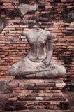 Rujnująca Buddha rzeźba Wat Chai Watthanaram, Ayutthaya, Tajlandzki obraz royalty free