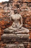 Rujnująca Buddha rzeźba Wat Chai Watthanaram, Ayutthaya, Tajlandzki obraz stock