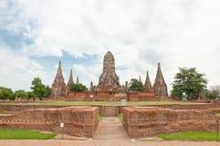 Rujnująca starej świątyni budowa od cegły fotografia stock