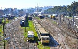 Rujnujący ładunków pociągi Zdjęcie Royalty Free