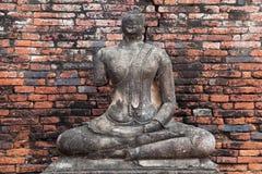 Rujnujący Buddha przy Watem Chaiwatthanaram obrazy royalty free
