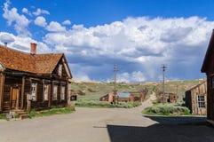 Rujnujący domy w Amerykańskim miasto widmo Obraz Royalty Free