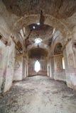 Rujnujący kościół fotografia royalty free