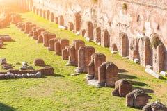 Rujnujący kolumna antyczny hipodrom Domitian w Rzym, Włochy obrazy stock