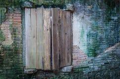 Rujnujący okno i ściana Obrazy Royalty Free