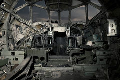 Rujnującego samolotu kokpit Fotografia Stock
