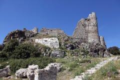 Rujnujący kasztel Asklipion, Rhodes Zdjęcia Royalty Free