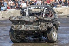 Rujnujący samochód po rozbiórkowego Derby Obraz Stock