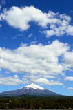 Rukapillan volcano with a cloudy sky Royalty Free Stock Images