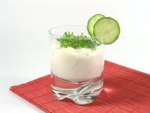 rukiew wodna ogórkowy jogurt obraz stock