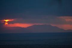 Rukinga-Ranch-Sonnenuntergang Lizenzfreies Stockbild