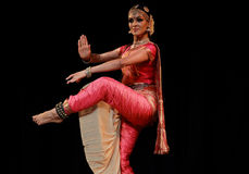 Rukmini - Bharatanatyam Dance Recital Royalty Free Stock Photo