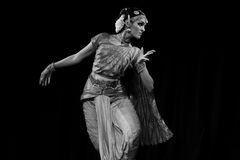 Rukmini - Bharatanatyam Dance Recital Royalty Free Stock Photography