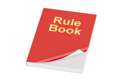 Rule book, 3D rendering. On white background Royalty Free Stock Images