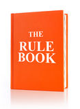 The rule book. White background Royalty Free Stock Photo