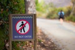 Rule Breaker Do Not Enter Sign Stock Images