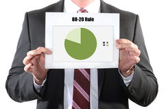 80 20 rule Stock Photo