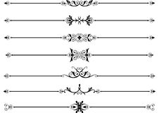 Rule lines with scrolls. Rule lines or dividers with scrolls with intricate designs Stock Photo
