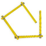 Rule meter. Carpenter rule meter on white. Clipping path Stock Photography