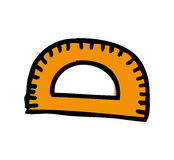 Rule school supply icon. Vector illustration design Royalty Free Stock Photo