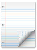 Ruled Notebook Paper Page Curl Royalty Free Stock Photography