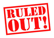 RULED OUT! Royalty Free Stock Photo