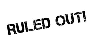 Ruled Out rubber stamp. Grunge design with dust scratches. Effects can be easily removed for a clean, crisp look. Color is easily changed Stock Image
