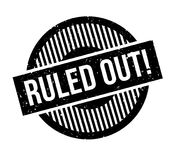 Ruled Out rubber stamp. Grunge design with dust scratches. Effects can be easily removed for a clean, crisp look. Color is easily changed Royalty Free Stock Images
