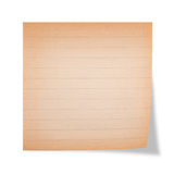 Ruled sheet Stock Photo