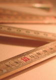 Ruler - 10 cm. A foldable ruler with blurred background Stock Photos