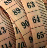Ruler. Close up of a flexible ruler Royalty Free Stock Photos