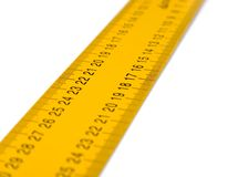 Ruler. Perspective view on white Royalty Free Stock Photography