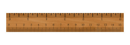 Ruler. Realistic illustration of a ruler - Isolated on white background Royalty Free Stock Image
