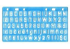 Ruler. With alphabet - letter trace royalty free stock photography