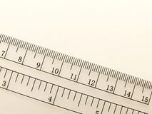 Ruler. Image of a transparent ruler Royalty Free Stock Photos