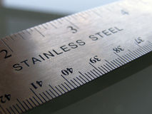 Ruler. Closeup of ruler on table Stock Photos
