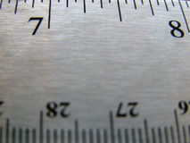 Ruler. Closeup of steel ruler Stock Images