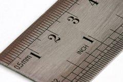 Ruler. A metal ruler royalty free stock images