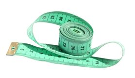 Ruler. Centimetric tape on a white background Royalty Free Stock Photo