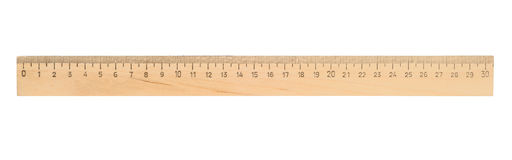 Ruler. Single ruler isolated with clipping path over white Royalty Free Stock Photo