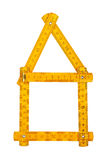 Ruler as a house Royalty Free Stock Photo