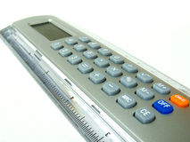 Ruler/calculator Royalty Free Stock Photos