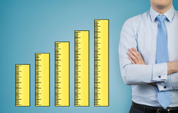 Ruler chart Stock Photo