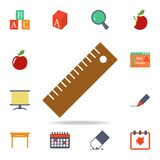 Ruler colored icon. Detailed set of colored education icons. Premium graphic design. One of the collection icons for websites, web. Design, mobile app on white stock illustration