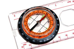 Ruler with compass Stock Photography