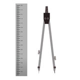 Ruler and compasses tool. Tools for drawing. Royalty Free Stock Photography