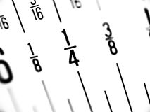Ruler in Fractions of Inches Royalty Free Stock Photography